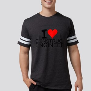 I Love Construction Engineering T-Shirt